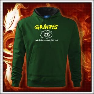 Grínpís - fľaškovozelená mikina