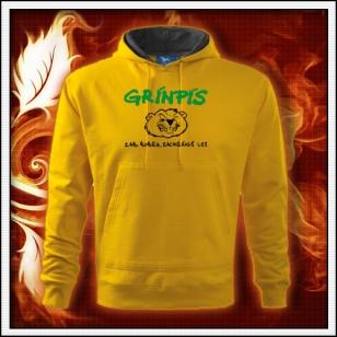 Grínpís - žltá mikina
