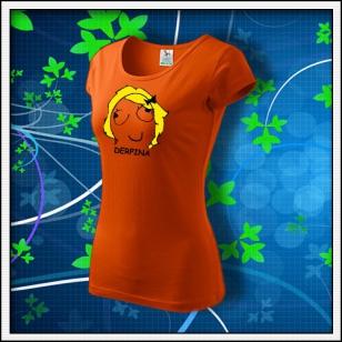 Meme Derpina s textom - dámske oranžové