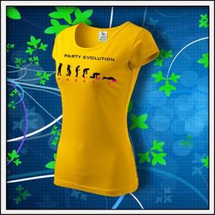 Evolution Party s neónom - dámske žlté
