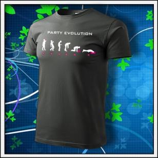 Evolution Party s neónom - tmavá bridlica