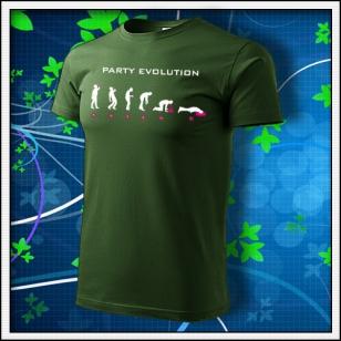 Evolution Party s neónom - fľaškovozelené