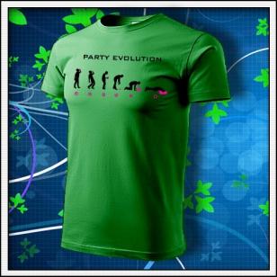 Evolution Party s neónom - trávovozelené