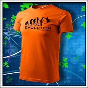 Evolution Snowboarding - oranžové