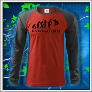 Evolution Snowboarding - červené DR pánske