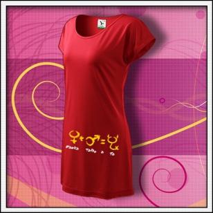 Mamka, tatko a ja - červené tričko / šaty