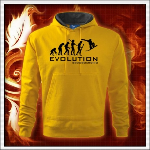 Evolution Snowboarding - žltá mikina