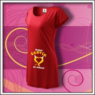 Budem čertík po tatovi - červené tričko / šaty