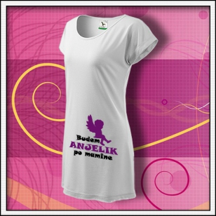 Budem anjelik 01 - biele tričko / šaty