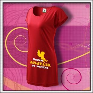Budem anjelik 01 - červené tričko / šaty