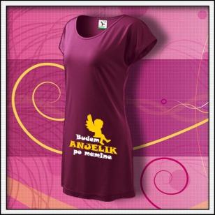 Budem anjelik 01 - fuchsiové tričko / šaty