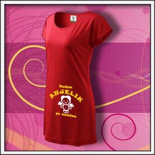 Budem anjelik 02 - červené tričko / šaty
