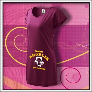 Budem anjelik 02 - fuchsiové tričko / šaty