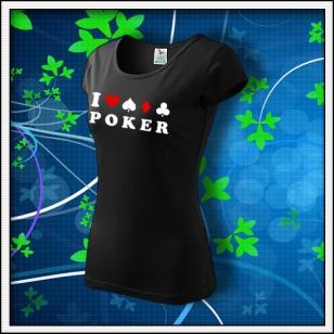I Love Poker - dámske čierne