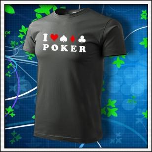 I Love Poker - tmavá bridlica