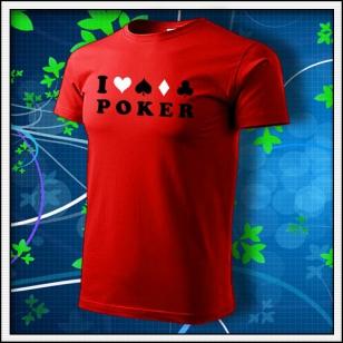 I Love Poker - červené