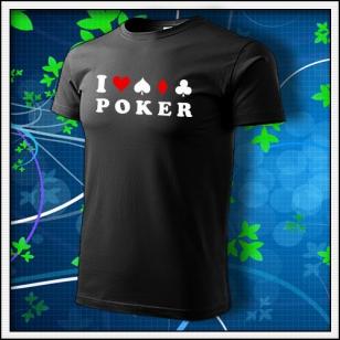 I Love Poker - čierne