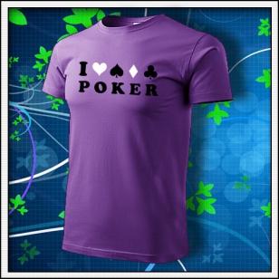 I Love Poker - fialové