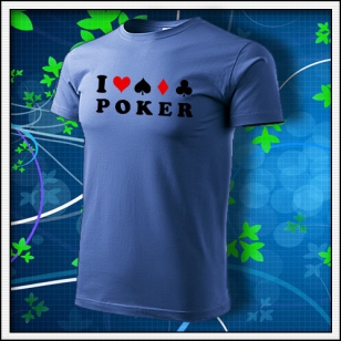 I Love Poker - svetlomodré