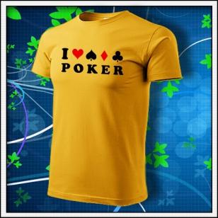I Love Poker - žlté