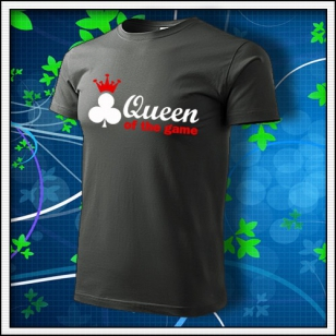 Queen of the Game - Poker - tmavá bridlica