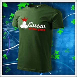 Queen of the Game - Poker - fľaškovozelené