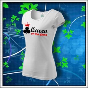 Queen of the Game - Poker - dámske biele