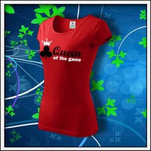Queen of the Game - Poker - dámske červené
