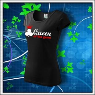 Queen of the Game - Poker - dámske čierne