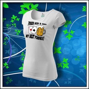 Poker Aces & Beer - dámske biele