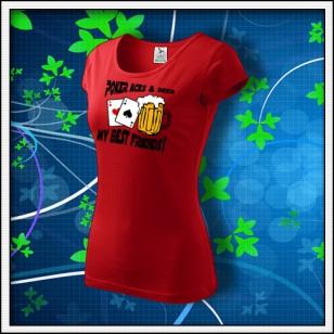 Poker Aces & Beer - dámske červené