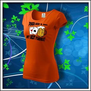 Poker Aces & Beer - dámske oranžové