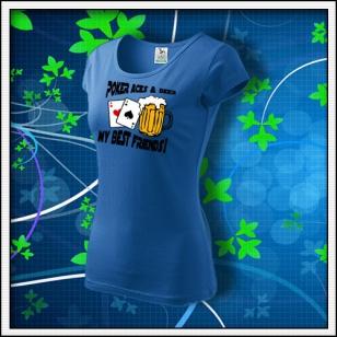Poker Aces & Beer - dámske svetlomodré