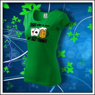 Poker Aces & Beer - dámske trávovozelené