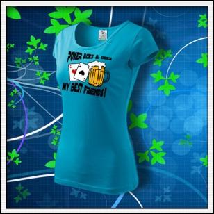 Poker Aces & Beer - dámske tyrkysové