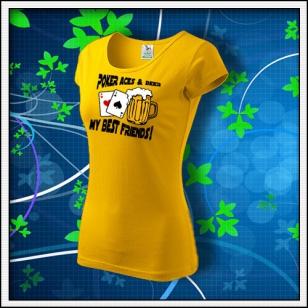 Poker Aces & Beer - dámske žlté
