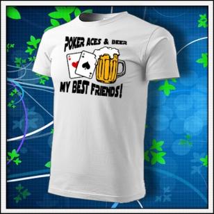 Poker Aces & Beer - biele