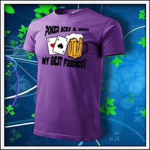 Poker Aces & Beer - fialové
