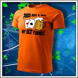 Poker Aces & Beer - oranžové