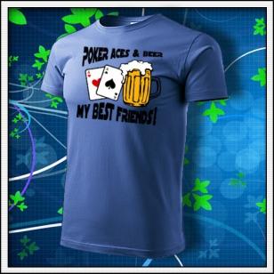 Poker Aces & Beer - svetlomodré