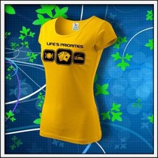 Life´s priorities - Poker - dámske žlté