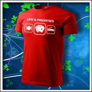 Life´s priorities - Poker - červené