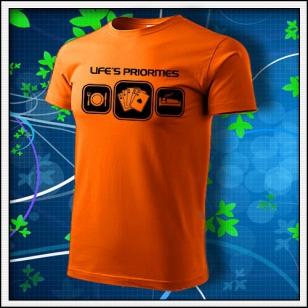 Life´s priorities - Poker - oranžové