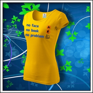 Anti Facebook - dámske žlté