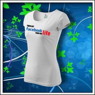 Anti Facebook 03 - dámske biele