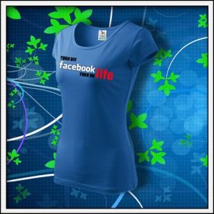 Anti Facebook 03 - dámske svetlomodré