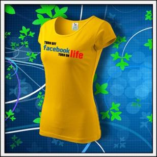 Anti Facebook 03 - dámske žlté