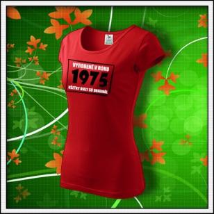 Vyrobené v roku - dámske červené