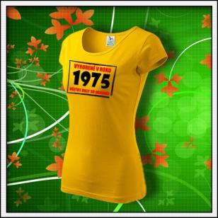 Vyrobené v roku - dámske žlté