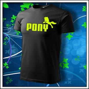 Pony - unisex so žltou neónovou potlačou